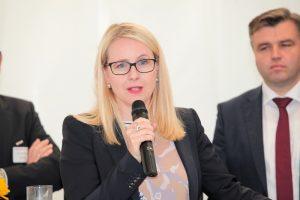 Margarethe Schramböck beim Kickoff-Meeting Businessregion Gleisdorf