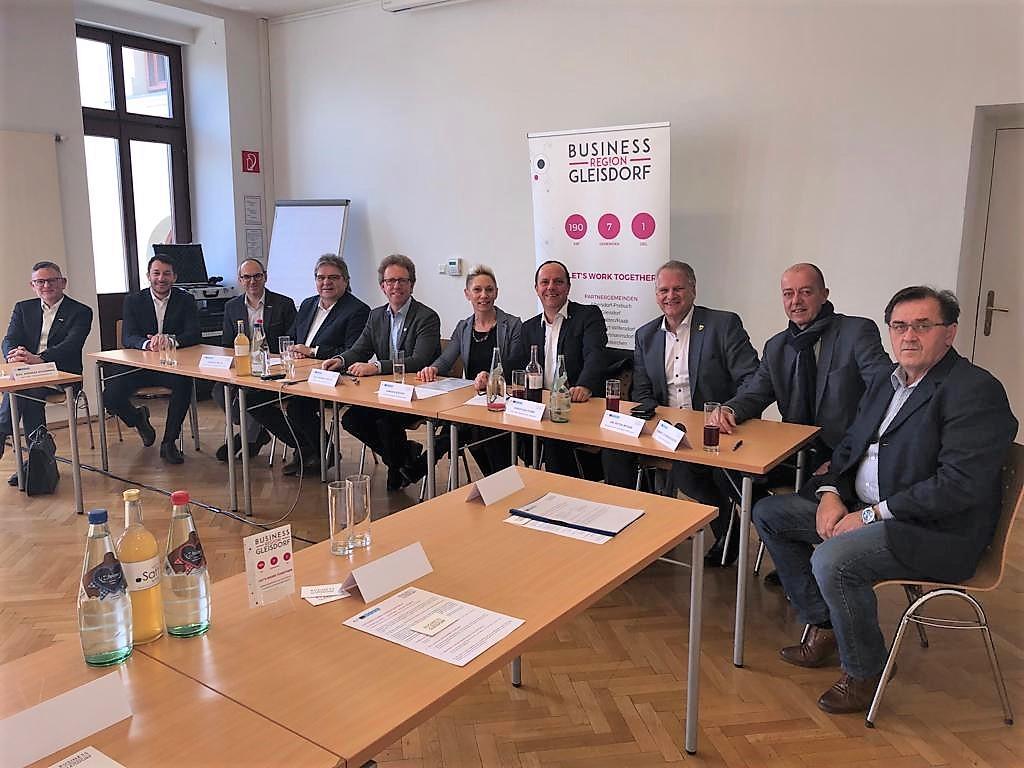 Pressegespräch Businessregion Gleisdorf